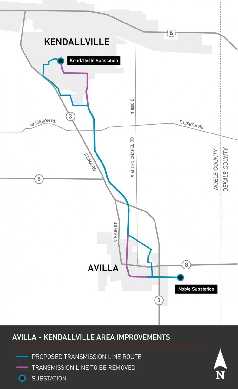 Indiana Michigan Power I M Announces Line Route For Avilla