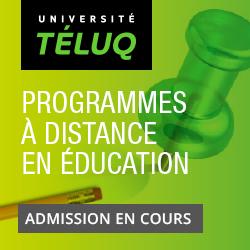 Université TÉLUQ   Programmes à distance en éducation