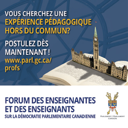 Forum des enseignantes et des enseignants sur la démocratie parlementaire