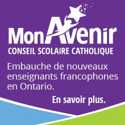 Embauche de nouveaux enseignants francophones en Ontario.