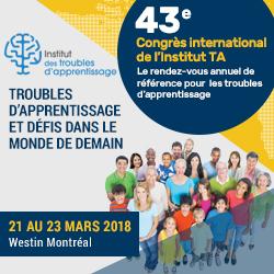 43e Congrès international de l'institut TA   Montréal: 21-23 mars 2018